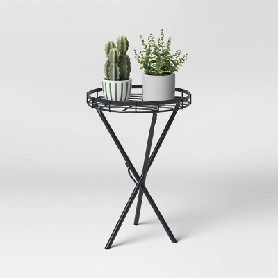 "16.5"" Iron Plant Stand Black - Threshold™"