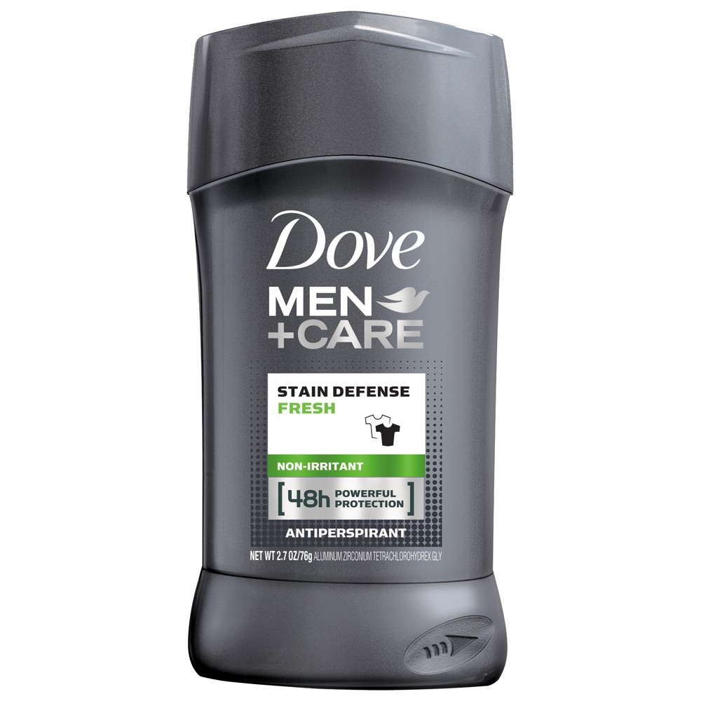 Dove Men + Care Stain Defense Antiperspirant Deodorant Stick Fresh - 2.7oz