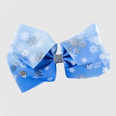 Girls' JoJo Siwa Snowflakes Bow Hair Clip - Blue