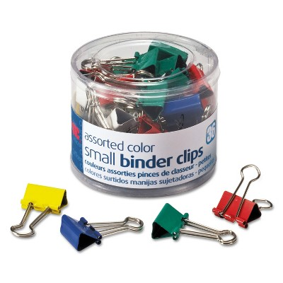 """Officemate Binder Clips Metal 3/4"""" Assorted Colors 36/Pack 31028"""