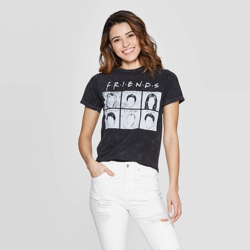Women's Friends Short Sleeve Screen Graphic T-Shirt (Juniors') - Black - image 1 of 9