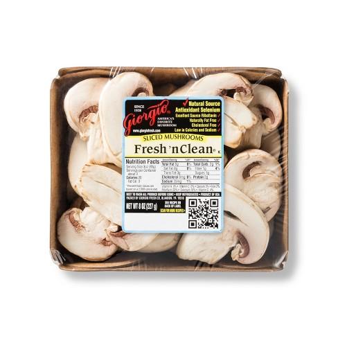 Sliced White Mushrooms - 8oz