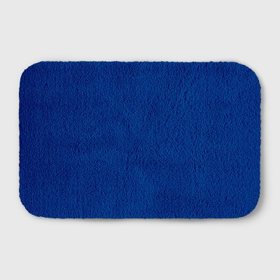 Perfectly Soft Solid Shag Bath Rug Capri Blue - Opalhouse™