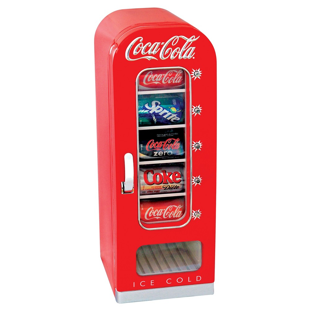 Koolatron CVF18 Coca Cola 10 Can Retro Vending Cooler Red