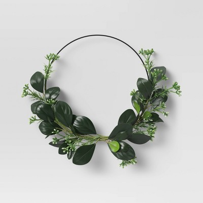 Minimal Wreath with Faux Green - Opalhouse™