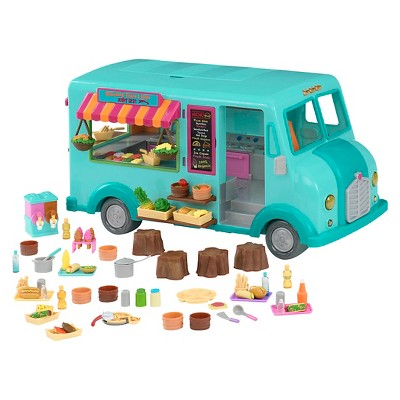 Li'l Woodzeez Toy Food Truck with Accessories 89pc - Honeysuckle Sweets & Treats