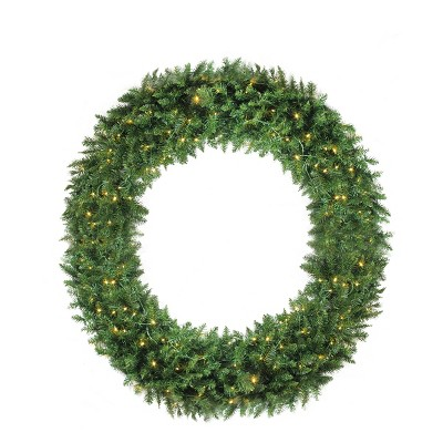 Northlight Pre-Lit Buffalo Fir Commercial Artificial Christmas Wreath - 72-Inch, White Lights