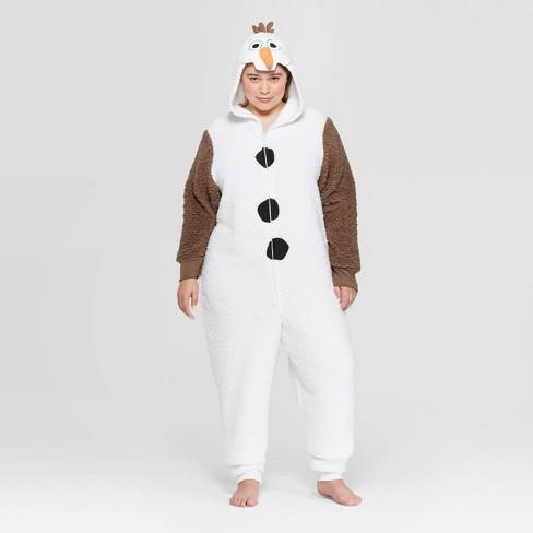 Women's Olaf Plus Size Union Pajama Suit - White - image 1 of 2