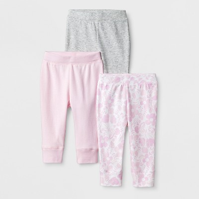 Baby Girls' 3pk Blushing Pants - Cloud Island™ Pink Newborn