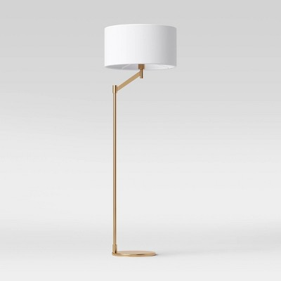 Modern Arm Floor Lamp (Includes LED Light Bulb)Brass - Project 62™