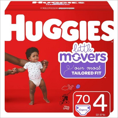 Huggies Little Movers Diapers - Size 4 (70ct)