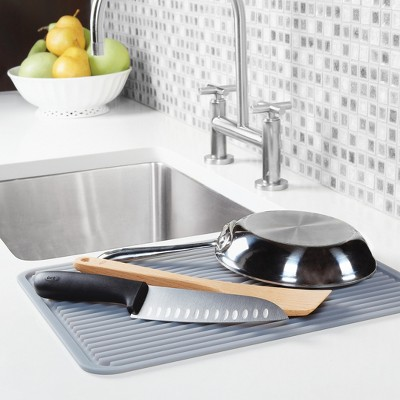 oxo silicone dish drying mat gray large target rh target com kitchen dish drying pad drymate kitchen dish drying mat