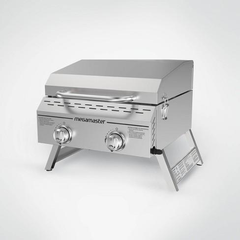 Megamaster 2 Burner Stainless Steel Tabletop Gas Grill 820 0033m Silver Target