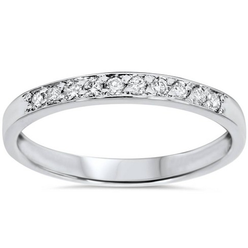 Pompeii3 1/4ct Diamond Stackable Wedding Ring 14K White Gold - image 1 of 4