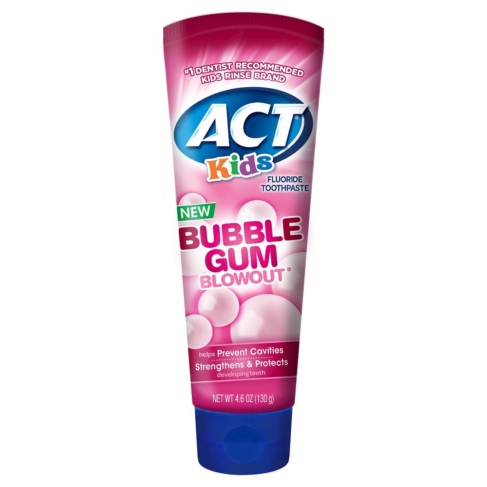 Image of ACT Kids Toothpaste Bubblegum - 4.6oz