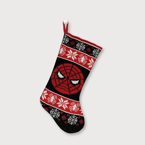Marvel Spider-Man Black Knit Christmas Stocking Red - image 1 of 2