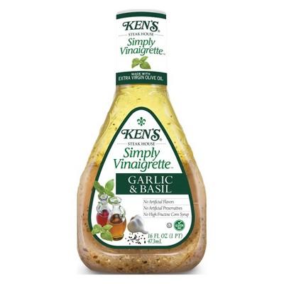 Kens Vinaigrette Garlic & Basil - 16fl oz