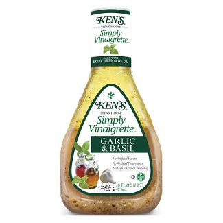 Kens Vinaigrette Garlic & Basil - 16 fl oz