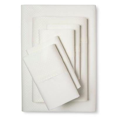 King 6pc Natalia Cavalletto Check Design Sheet Set Ivory - Christopher Knight Home