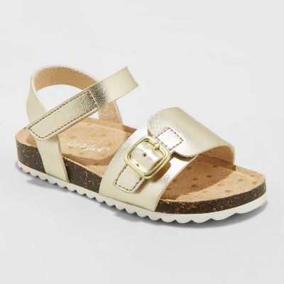 Toddler Girls' Belle Footbed Sandals - Cat & Jack™ Gold 5