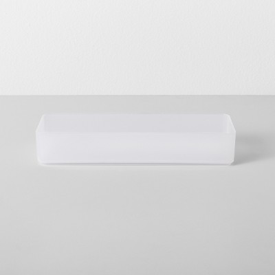Small Plastic Bathroom Tray Clear - Made By Design™