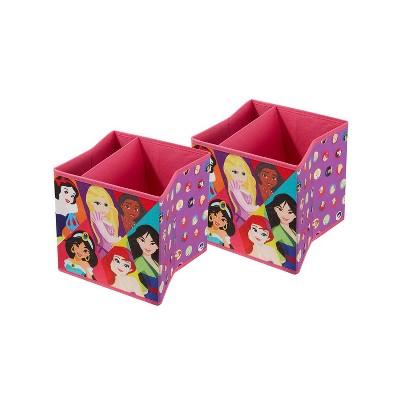 "9"" Set of 2 Disney Princess Soft Storage Bins"