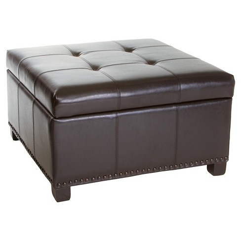 Super Shauna Interior Tray Storage Ottoman Espresso Christopher Knight Home Caraccident5 Cool Chair Designs And Ideas Caraccident5Info