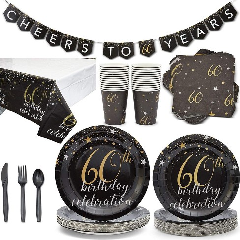 Serves 24 60th Birthday Party Supplies Decorations for Men Women - image 1 of 4