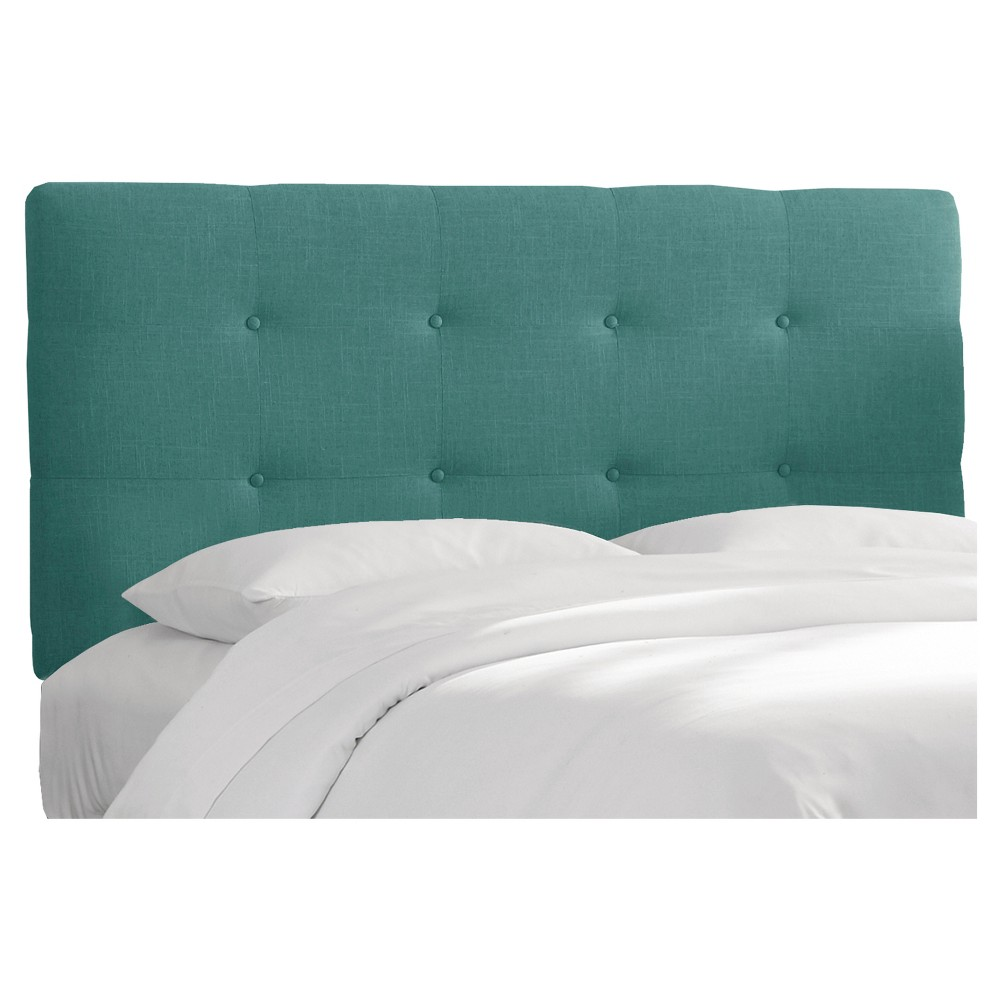 Full Dolce Headboard Teal Linen - Cloth & Co.