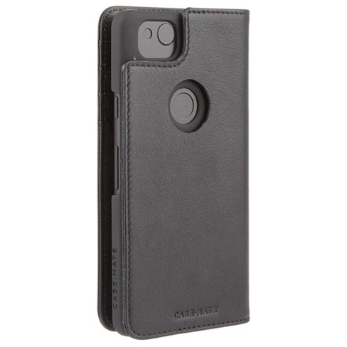 best sneakers 3c841 2c2b8 Case-Mate Google Pixel 2 Black Leather Wallet Folio Case