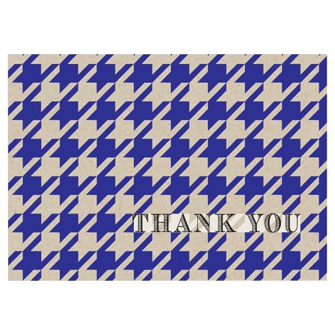 10ct Houndstooth Emboss Contemporary Design Thank You Notecards - image 1 of 1