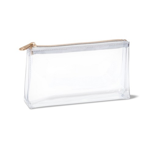 Sonia Kashuk Rectangle Clutch Makeup Bag Clear