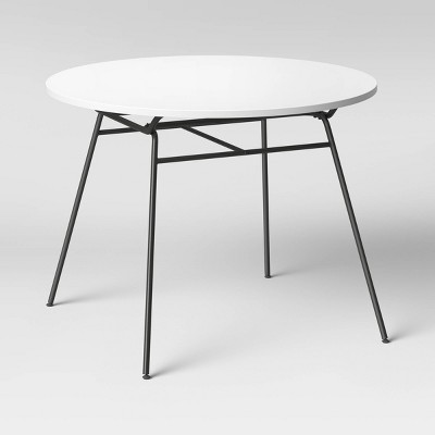 Basic Dining Table with Metal Legs White - Room Essentials™
