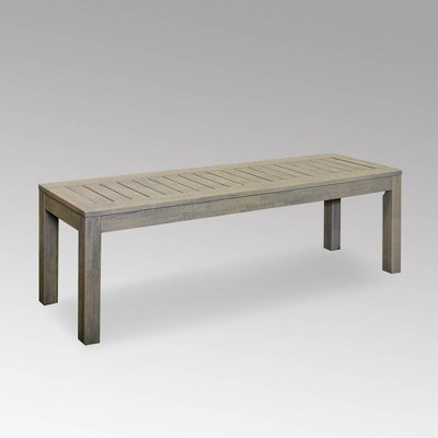 Westlake Wood Outdoor Patio Backless Bench - Cambridge Casual