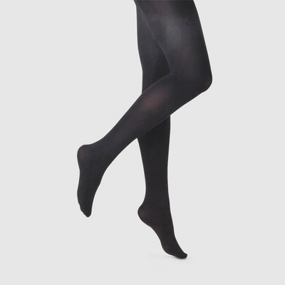 Women's 80D Super Opaque Tights - A New Day™ Black