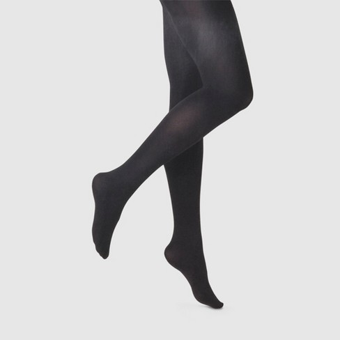 Women's 80D Super Opaque Tights - A New Day™ Black - image 1 of 2