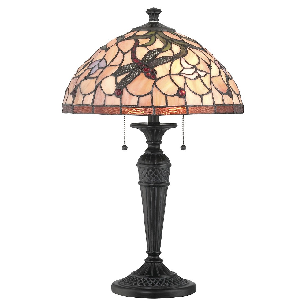 Breanna 2 Light Table Lamp - Dark Bronze, Brown/Multicolored