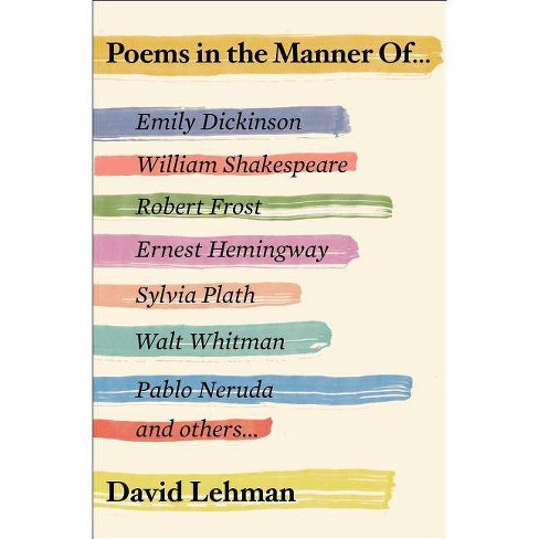 Poems in the Manner of - by  David Lehman (Paperback) - image 1 of 1