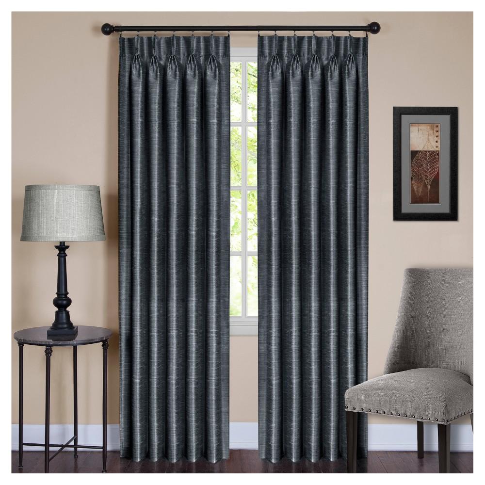 Parker Pinch Pleat Window Curtain Panel Slate (Grey) (34