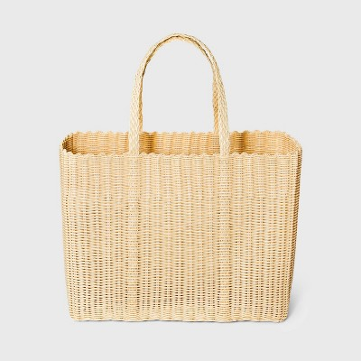 Woven Tote Handbag - Shade & Shore™ Cream Blush