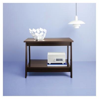 Trestle Coffee Table Espresso   Room Essentials™ : Target