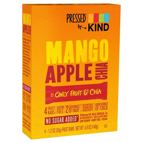 Pressed™ by KIND Mango Apple Chia Bars - 4ct - image 1 of 3