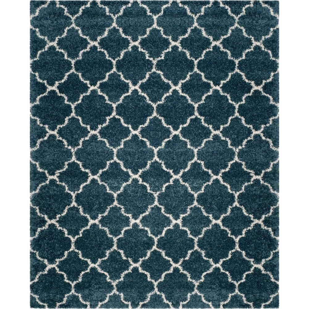 8'X10' Quatrefoil Design Loomed Area Rug Slate Blue/Ivory - Safavieh
