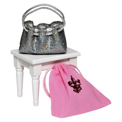 The Queen's Treasures 18 Inch Doll Clothes Accessories, Silver Glitter Designer Shoulder Handbag Purse