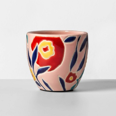 Mini Blush Floral Planter - Opalhouse™