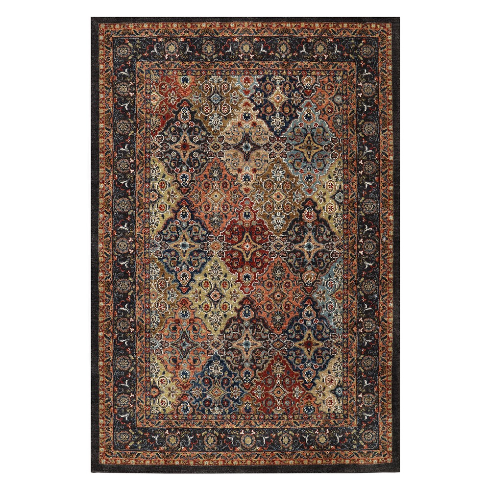 "Image of ""9'6""""x12'11"""" Floral Woven Area Rug - Karastan, Multicolored"""