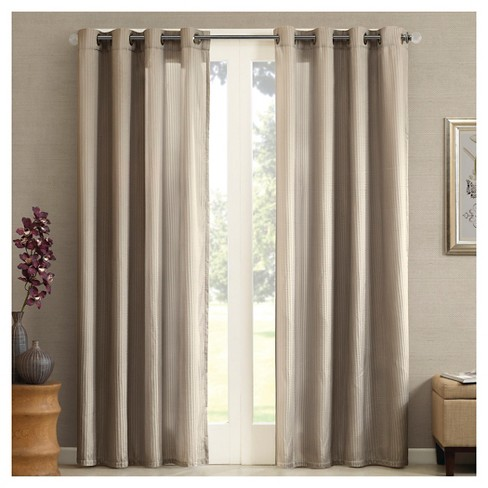 Perez Solid Striped Curtain Panel - image 1 of 2