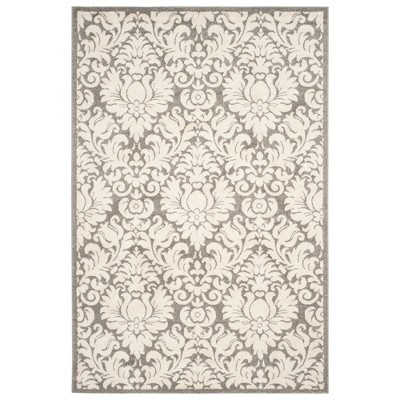 Rectangle 6' X 9' Outdoor Patio Rug - Dark Gray / Beige - Safavieh®