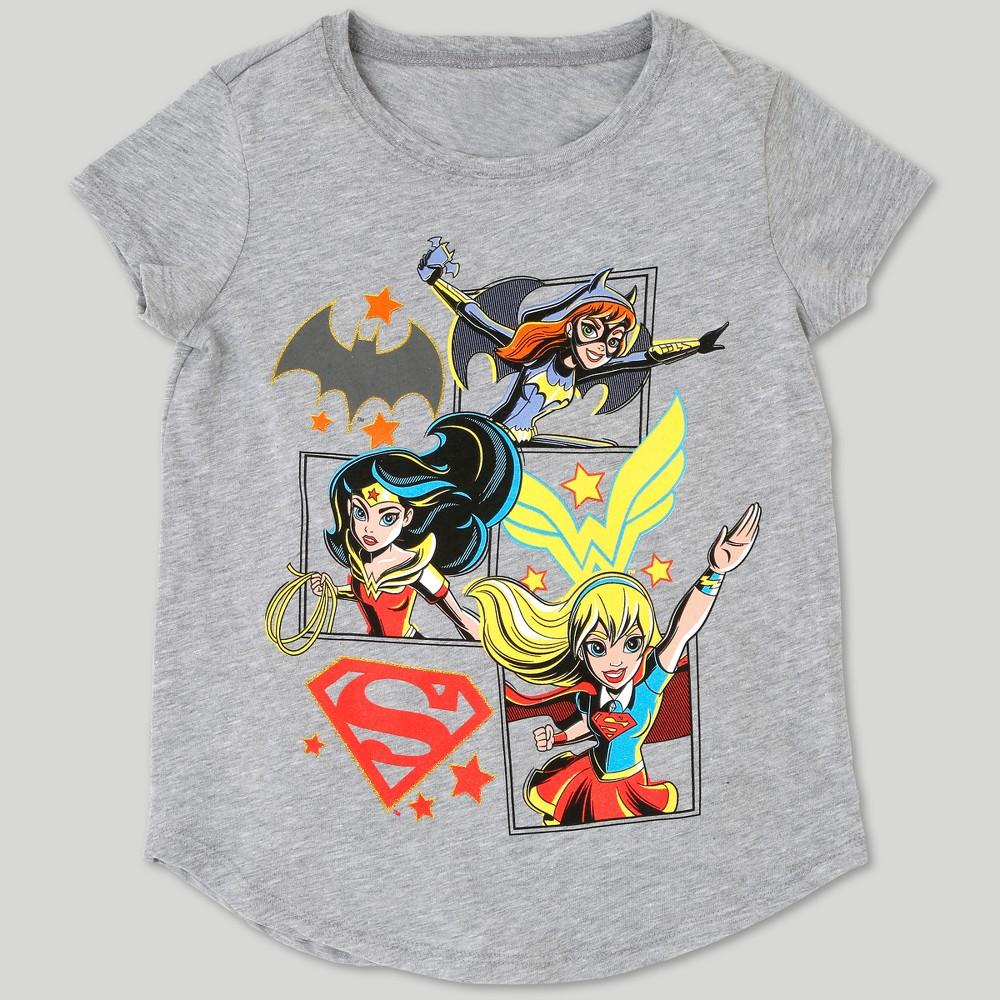 Girls' DC Super Hero Girls Short Sleeve T-Shirt - Heather Gray XL