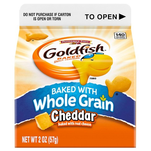 Pepperidge Farm Goldfish Whole Grain Cheddar Baked Snack Crackers - 2oz - image 1 of 5